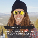 Snowboarding Icon - Shaun White Signature Oakley Sunglasses