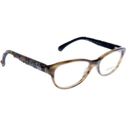 Chanel Tweed Eyeglass Frames : Chanel CH3243 1101 52 Glasses - Shade Station