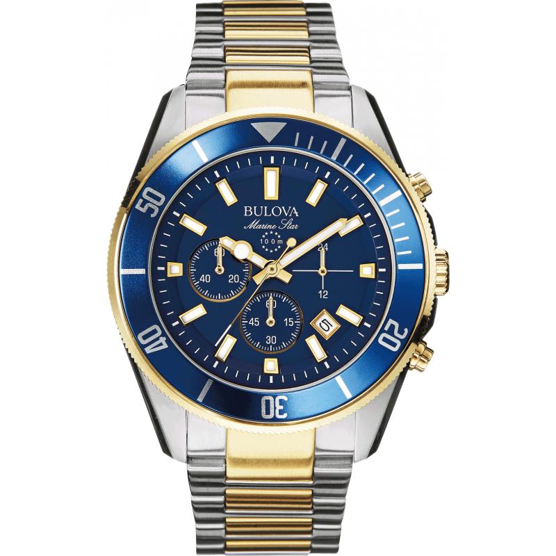 Bulova Marine Star Chronograph 98b230 Watch Shade Station