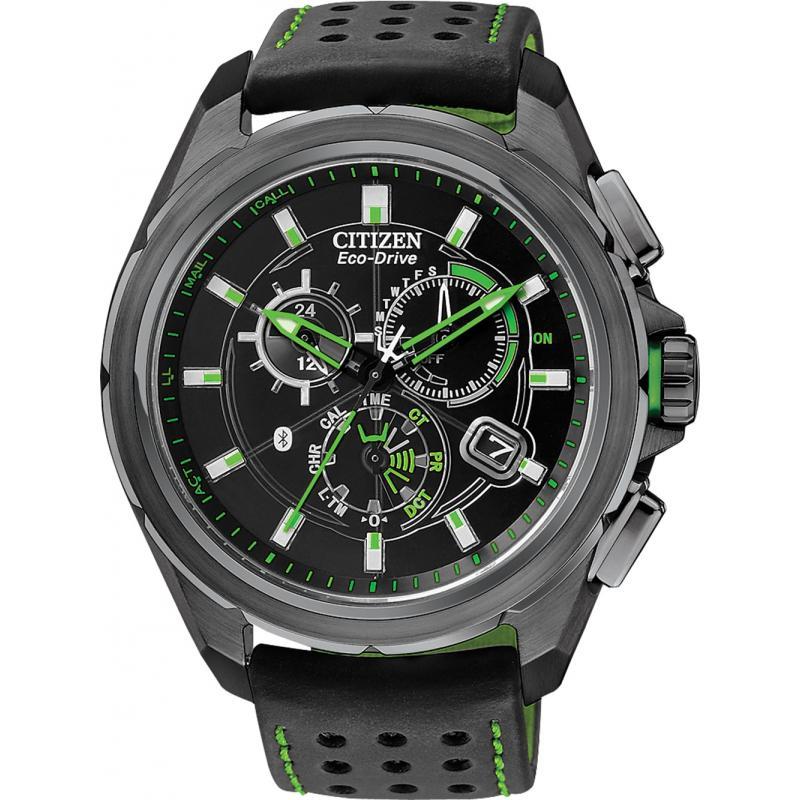 citizen eco drive promimity bluetooth chronograph at7035