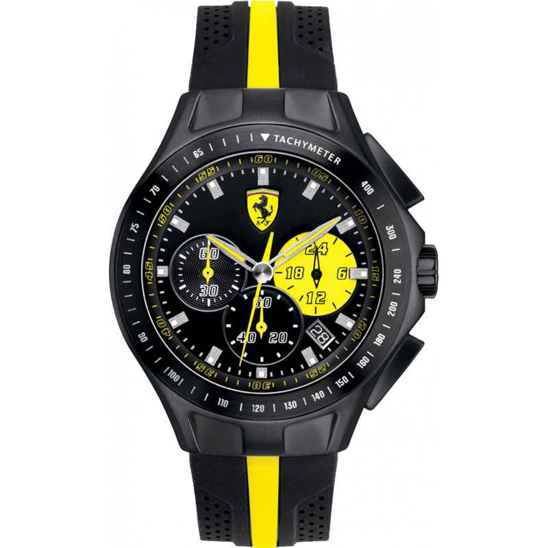Chronograph Quartz Men's Scuderia Ferrari Rubber Watches - Ernest Jones