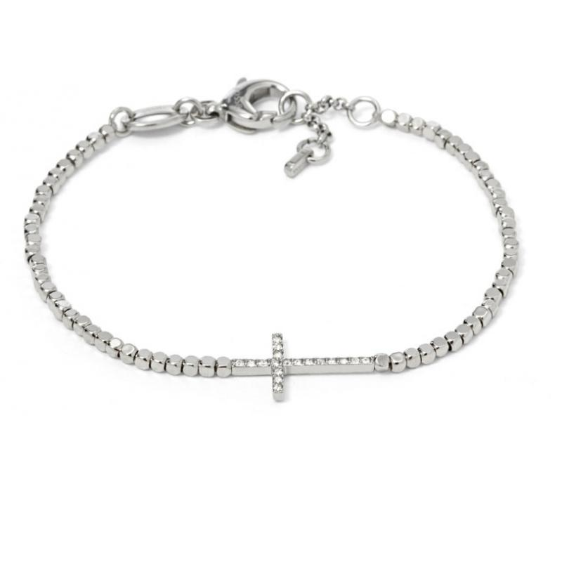 fossil nugget cross bracelet ja6577040 jewellery shade