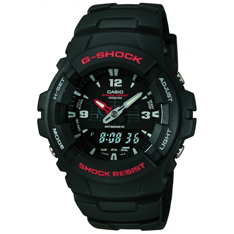 g shock g 100 1bv mur shade station