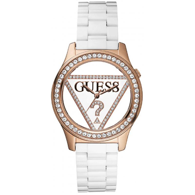 home watches guess watches guess clearly guess w10578l1 watch