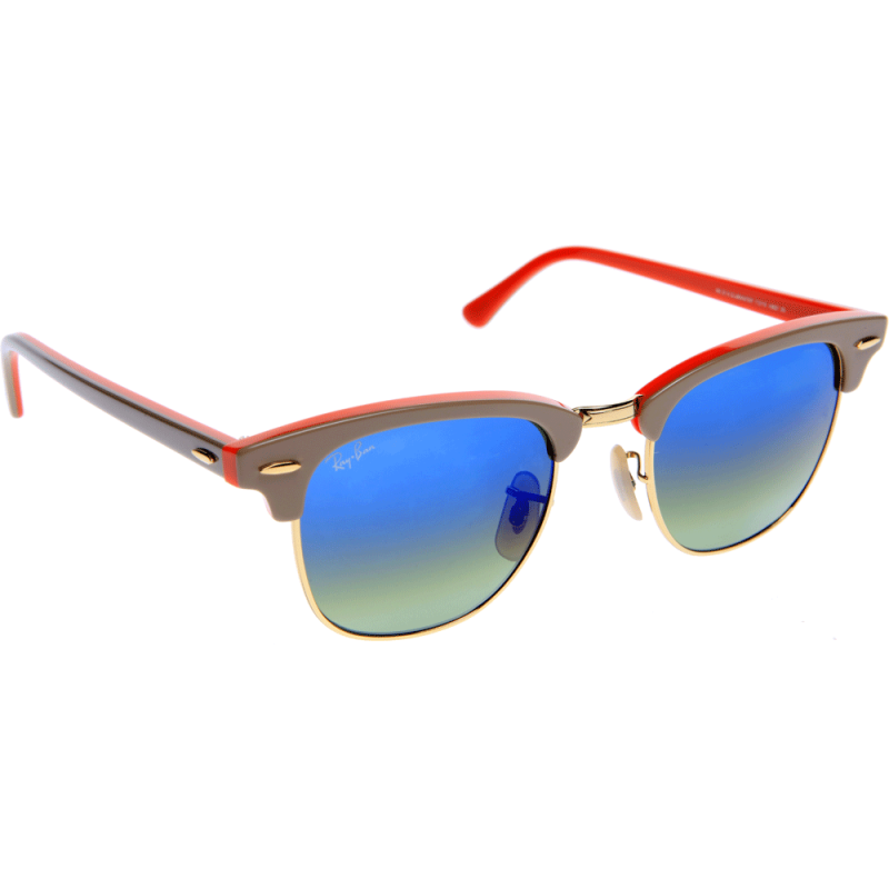 ray ban rb 3028 aviator sunglasses silver frame mirror blue lens