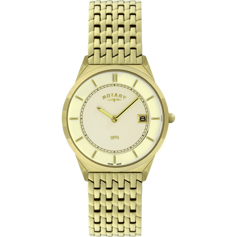 rotary gold plated bracelet gb08002 03 shade station