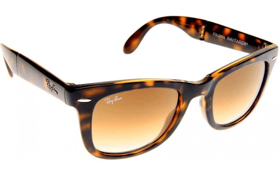 ray ban wayfarer sunglasses tortoise  ray ban 4105 folding wayfarer 50mm tortoise