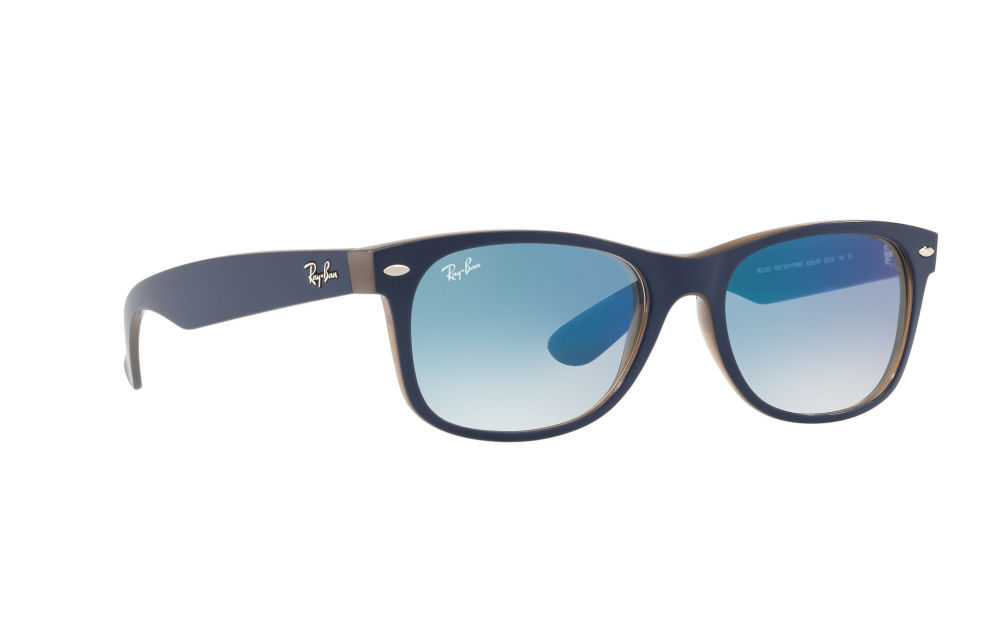 ba342b5e12 Sunglasses. Ray-Ban New Wayfarer RB2132. Only £78.42. In Stock. Frame   Matte blue
