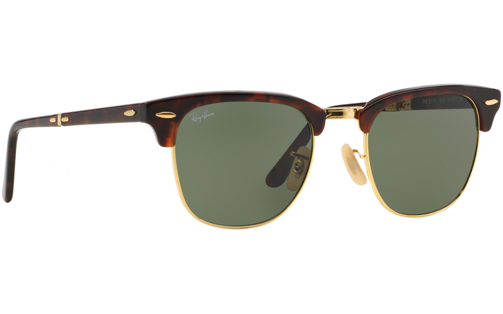 42b660d2da2 Ray-Ban Folding Clubmaster RB2176 990 51 Prescription Sunglasses ...