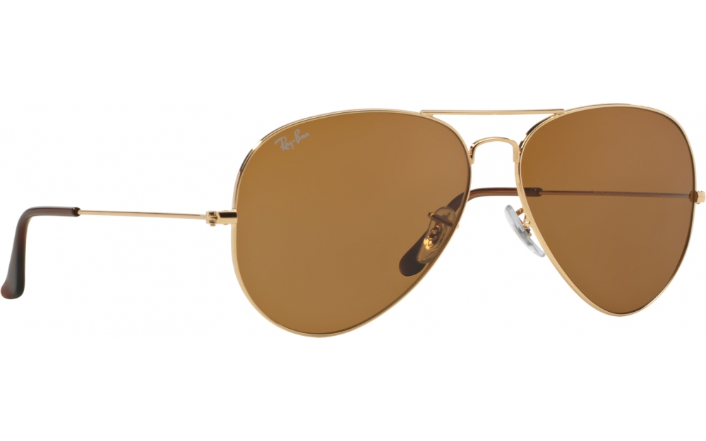 In Stock. Frame  Gold. Lens  Crystal brown. Sunglasses. Ray-Ban Aviator  RB3025 7dc67673fe04