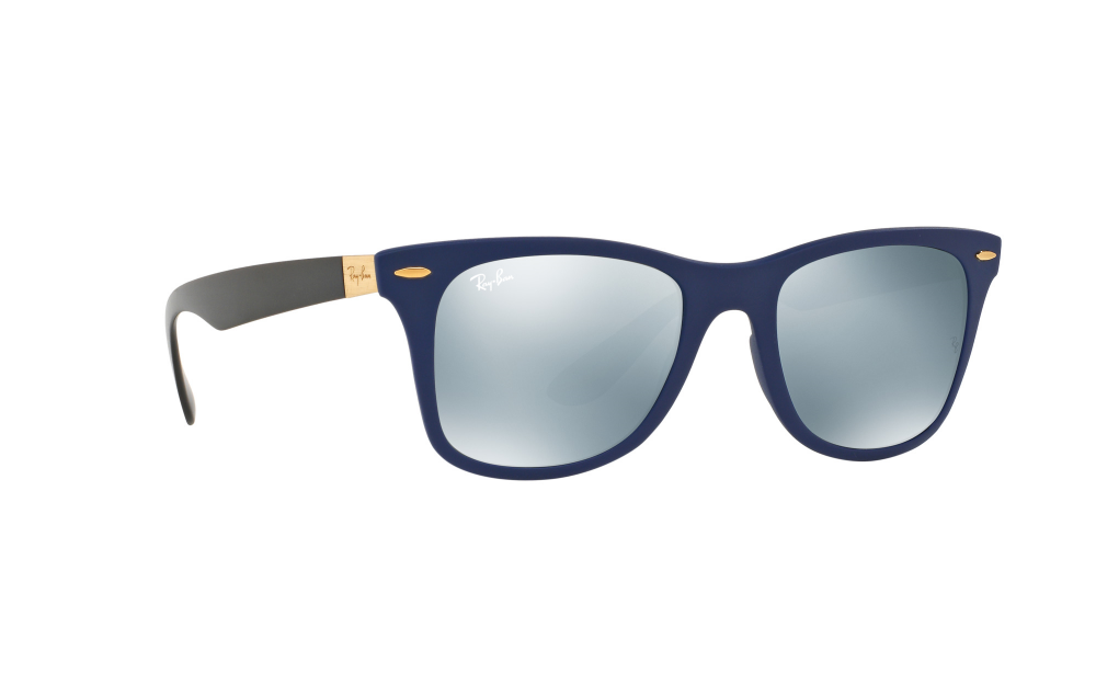 a15bb51bcc ... Wayfarer Liteforce RB4195 Sunglasses. Genuine Rayban Dealer - click to  verify. zoom. 360° view. Frame  Blue Lens  Grey mirror