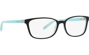a9f3c77dd32a In Stock. Frame  Black with tiffany blue interior and arms with sliver  keyhole temples. Glasses. Tiffany   Co TF2094