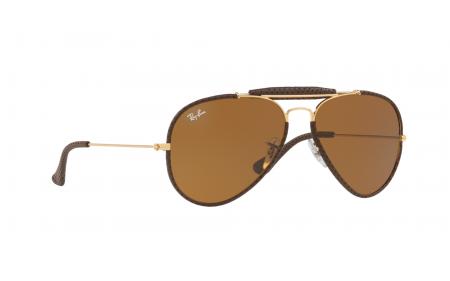 5742023809a10 Ray-Ban Aviator Craft RB3422Q 001 M9 58 Prescription Sunglasses ...
