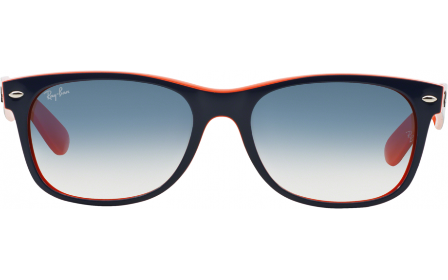 29b1fb04a Frame: Top Blue with Orange inside and Ray Ban logo on arms. Lens:  Graduated blue