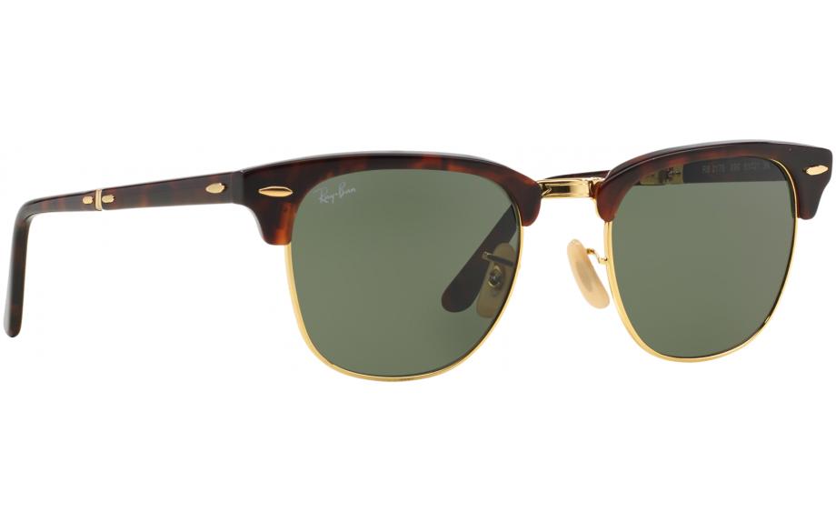 4e12275f188 Ray-Ban Folding Clubmaster RB2176 990 51 Prescription Sunglasses ...