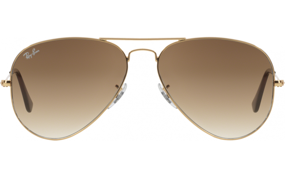 ray ban aviator medium gold braun