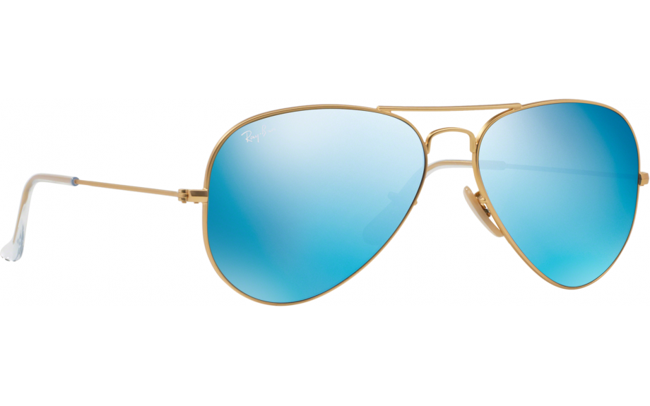 ray ban blue tint aviator