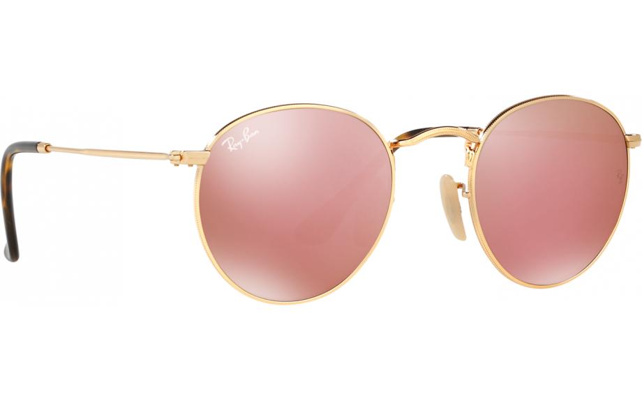 9f04eb1dd3b Ray-Ban ROUND FLAT LENSES RB3447N 001 Z2 50 Sunglasses