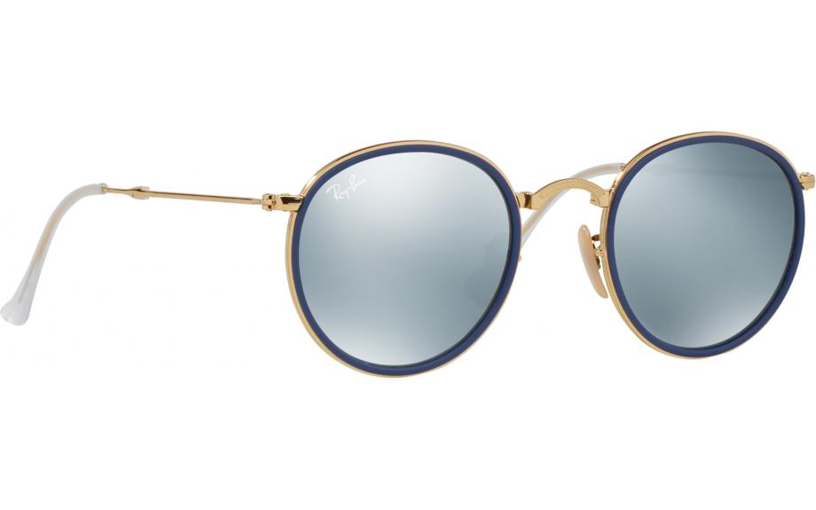94b980bbc1 Ray-Ban Round Folding RB3517 001 30 48 Sunglasses