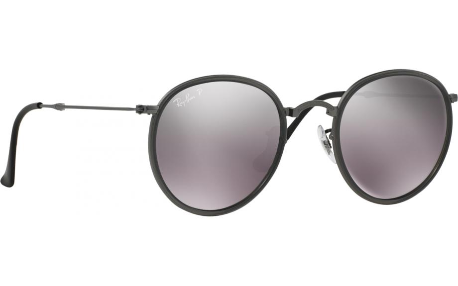 4d39e9b5c1 Ray-Ban Round Folding RB3517 029 N8 51 Prescription Sunglasses ...
