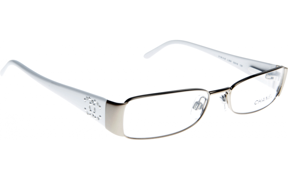 Chanel White Eyeglass Frames : Chanel CH2118HB C304 50 Prescription Glasses Shade Station