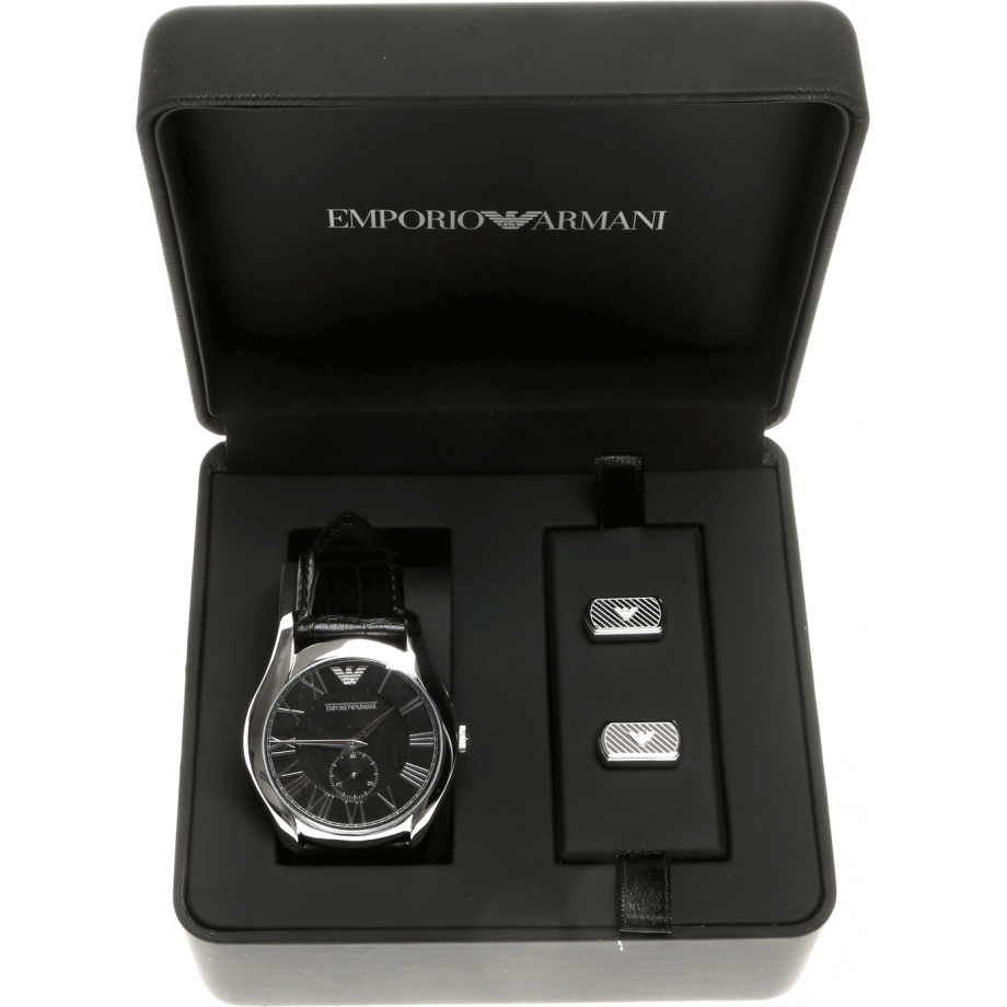 emporio armani mens gift set ar8027 watch shade station