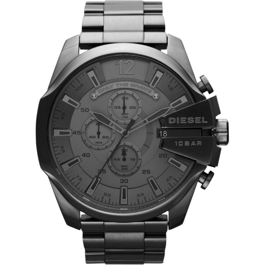 watch chief dial diesel s men mens p black oversized watches mega chronograph